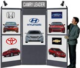 Trade Show Display with three panels over three panels.