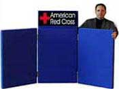 3 Panel Tabe Top Display For American red Cross