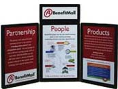 3 Panel Tabletop Display with graphics