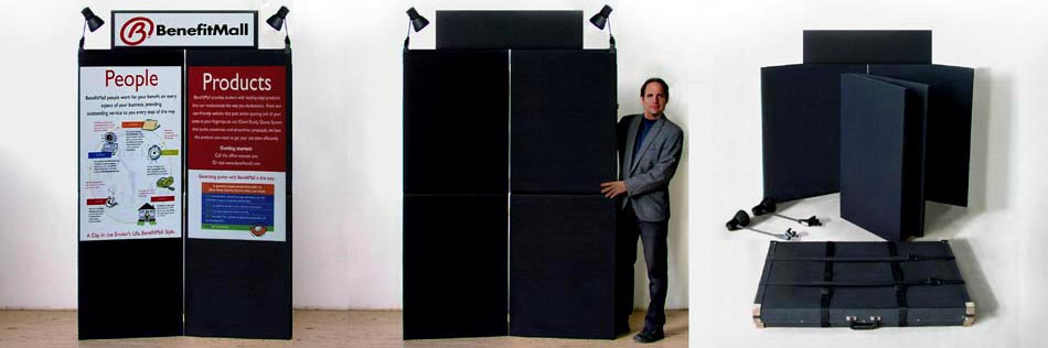 Two Over Two, Stackable, Velcro Trade Show Display