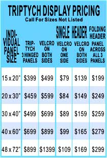 Table Top Display Pricing