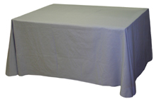 Grey Table Skirt
