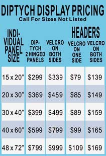 Table Top Displays Pricing